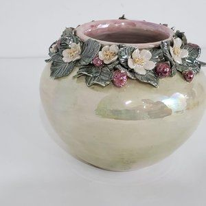 Other - Decorative Handmade Pot with Intricate Floral